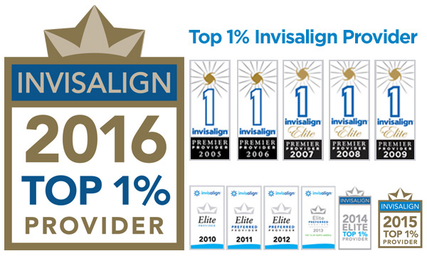 Top 1% Invisalign Provider - #2 in the Entire World!
